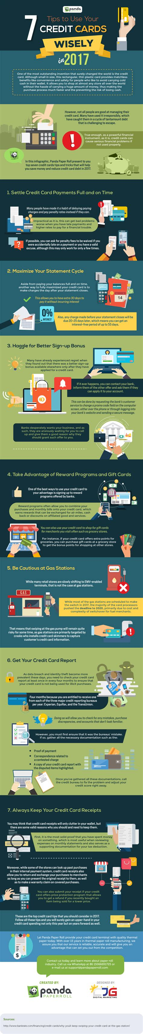 how to use credit cards wisely and make money 7 tips to use your credit cards wisely in 2017 infographic