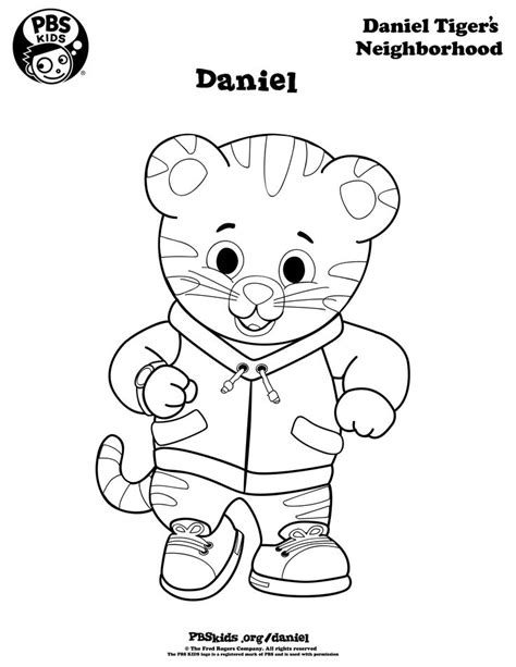 daniel tiger coloring coloring daniel tiger s neighborhood pbs mpb