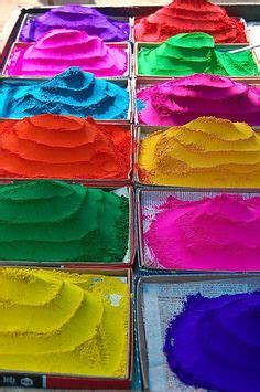 colored powder chalk colorful candles sand etc on holi
