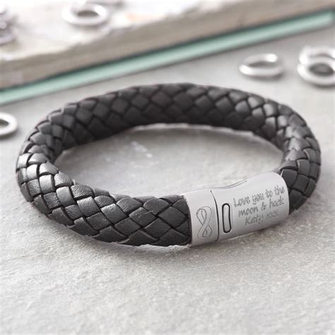 bracelets for your personalised i you infinity s leather bracelet