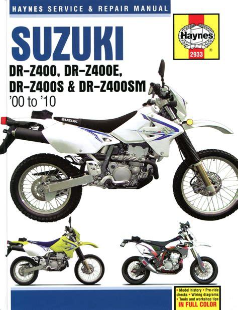 Suzuki Drz400e Manual Suzuki Drz400 Haynes Manual Drz400e Drz400s Drz400sm 2000