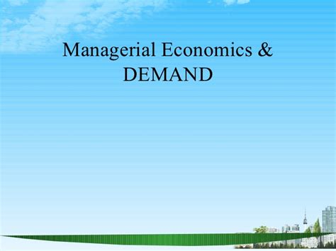 The Economoist No Mba by Economics Demand Ppt Mba 2009 Ppt
