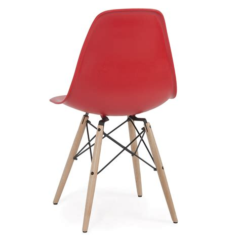 Dsw Dining Chair Eames Style Dsw Wood Base Mid Century Modern Shell Dining Side Chair Set Of 2 Ebay