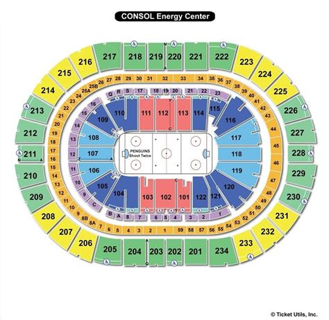 pittsburgh seating chart consol energy center seating chart hockey three rivers