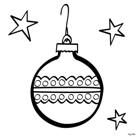 Christmas Tree Ball Coloring Pages Hellokids Com Tree Balls Coloring Pages