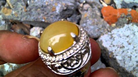 Cincin Batu Bungbulang batu cincin bungbulang kuning