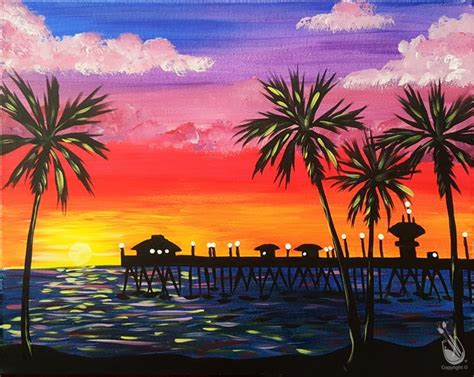 paint with a twist winter park new palm sunset tuesday february 28 2017 painting