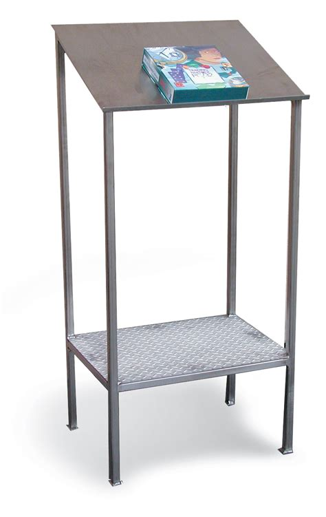 Stainless Steel Desk by Strong Hold Products Stainless Steel Writing Table
