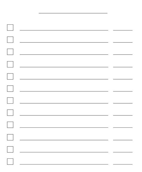 checkbox template word free checklist paper templates print paper templates