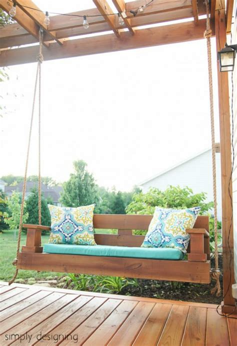 A Pretty Porch Swing That Used To Be A Deck Bob Vila