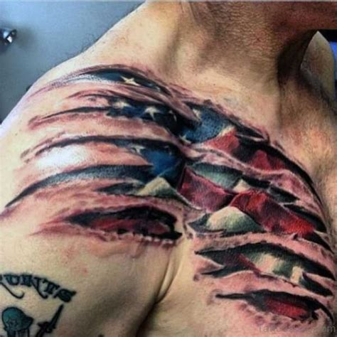 82 splendid ripped skin shoulder tattoos