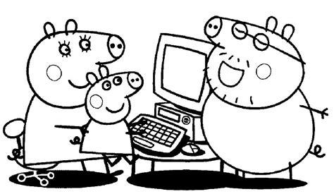 imagenes para pintar de peppa pig colorear peppa pig juegos para descargar