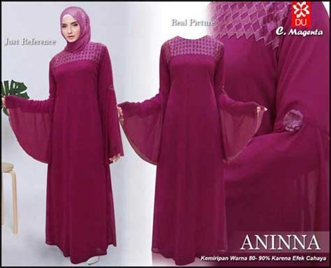 Maxi Dress Muslim Mewah Elegan Bahan Ceruty Warna Dusty Fit Xl gamis polos bahan ceruti wa 0821 1223 5665
