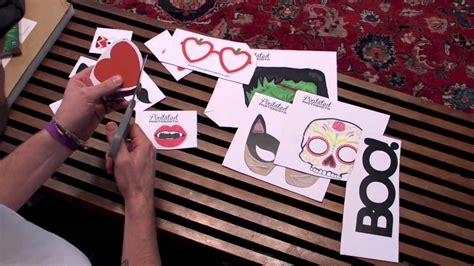 how to make diy printable photo booth props doovi