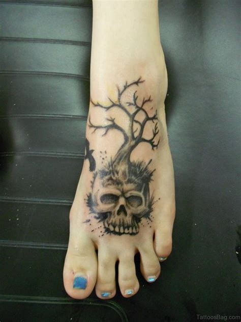 skull tree tattoo 50 magnificent skull tattoos on foot