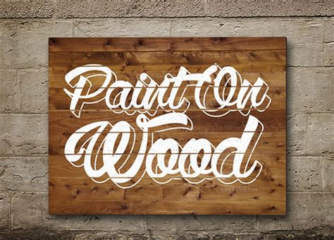 Wedding Fonts For Photoshop Cs6 by Painted On Wood Text Effect Wood Paint Psd Font Textuts