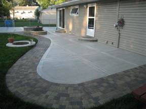 Cement Patio Pavers Concrete Patio With Sted Edges Buchheit Construction