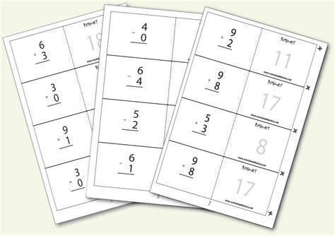 free printable flash cards addition and subtraction 6 best images of free printable math flash cards math