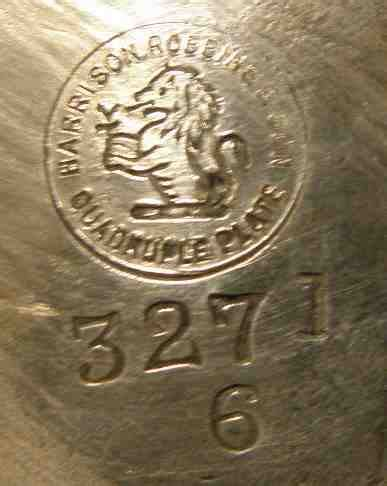 Ck Date Set Silver Plat Black american silverplate marks marks and hallmarks of us