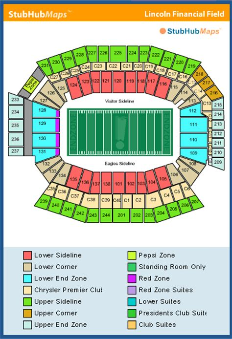 lincoln financial field sca club suite lincoln financial field seating chart pictures