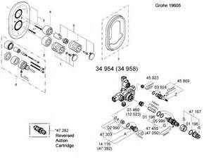 grohe grohtherm auto 2000 19605 000 shower spares and