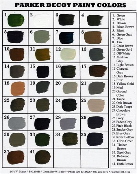 parker paint color chart bing images