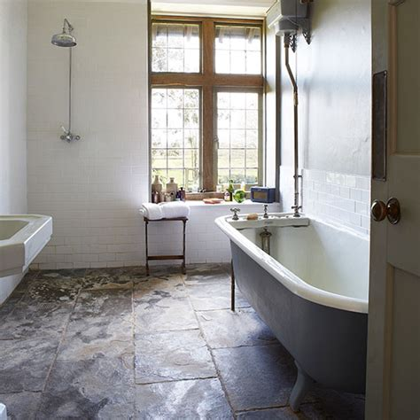 country home bathrooms country bathroom with slate floor decorating ideal home