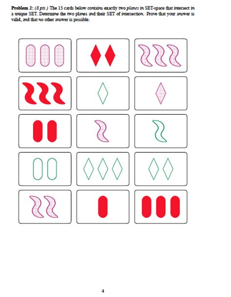 pattern matching quiz the game of set is a pattern matching game that wa