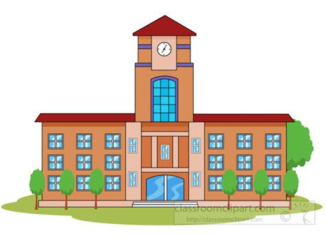 Drawing 1 In College by Buildings Architecture Clipart School Or College Building