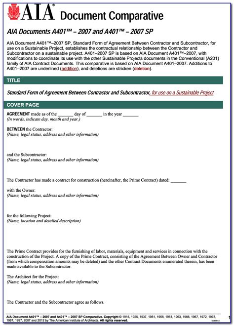 standard short form agreement  contractor  subcontractor form resume examples