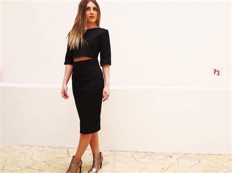Cotton Pencil Skirt black pencil skirt pique cotton skirt highwaist