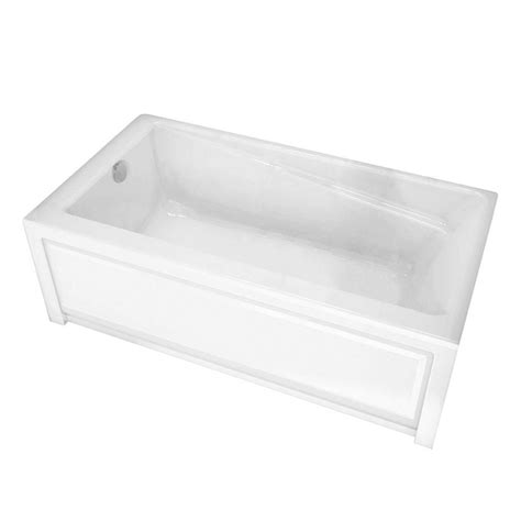 maax com bathtubs maax new town 6032 ifs white acrylic soaker tub left drain the home depot canada