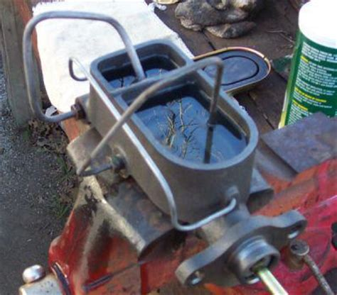 bench bleed master cylinder on car master cyliinder upgrade