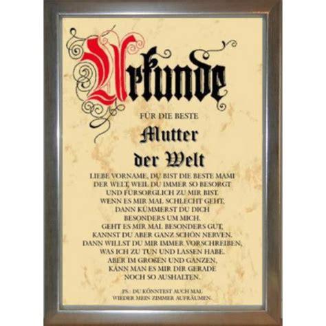 Beste Matratze Der Welt by Urkunde F 252 R Die Beste Mutter Der Welt Urkunden
