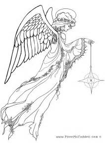 angel and star coloring page