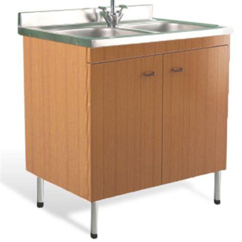 mobili lavello mobile con lavello teak 90 x 50 doppia vasca in acciaio inox