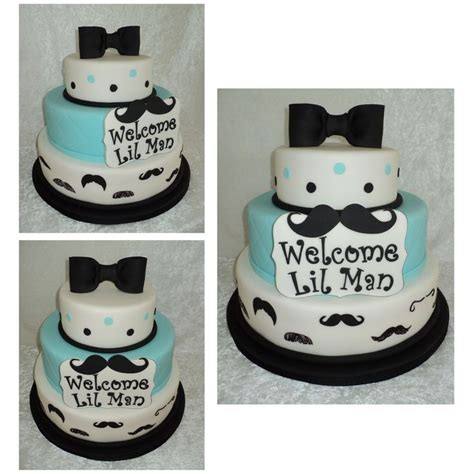 Baby Shower Mustache Cake by Mustache Baby Shower Cakes Lil Mustache Cake Baby