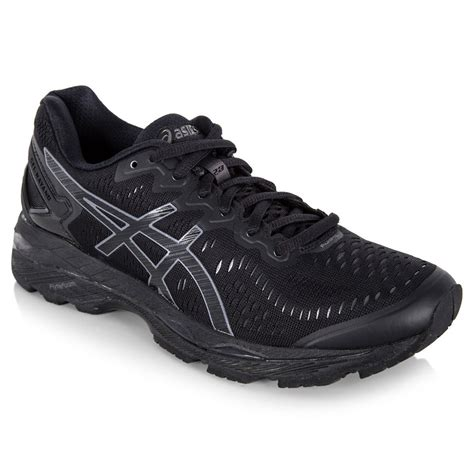 all black asics running shoes asics gel kayano 23 s running shoe black onyx