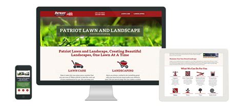 patriot home care patriot lawn and landscape website and vehicle wrap design