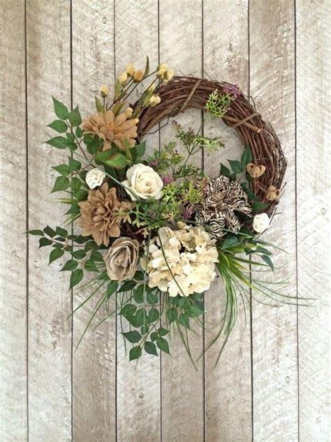 Burlap Wreaths For Front Door Burlap Wreath Wreath Summer Wreath Front Door Wreath Outdo