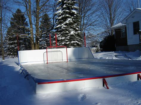 backyard hockey rink liner vaulted ceiling track lighting