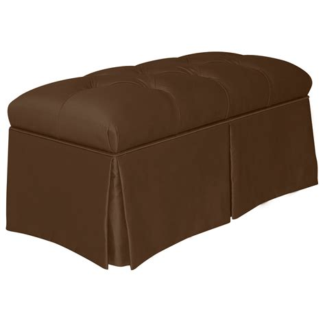skyline furniture bench shop skyline furniture quincy transitional chocolate accent bench at lowes com