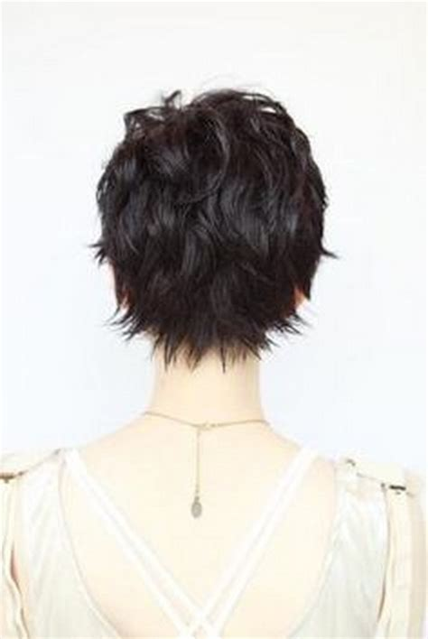 pixie haircut with a shag cut in back pixie haircut back