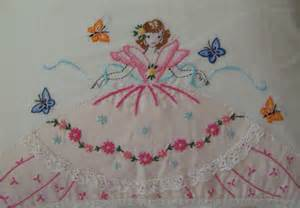 retro embroidered size pillow cases by