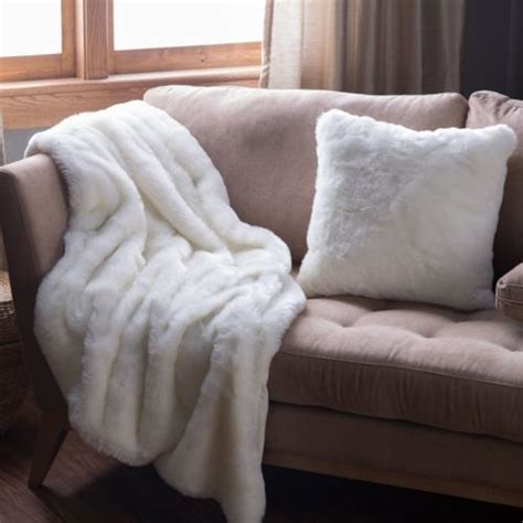 blanket for couch faux fur throw off white throws soft bed sofa accent couch