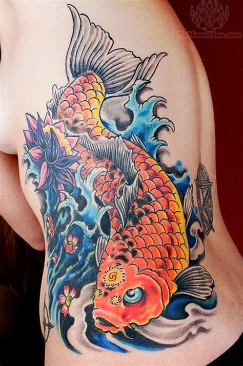 orange koi fish tattoo design orange koi on ribs