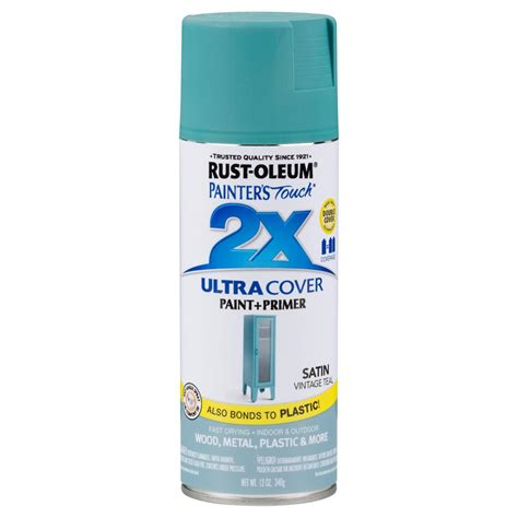 rust oleum painter s touch 2x 12 oz satin vintage teal general purpose spray paint 6 pack