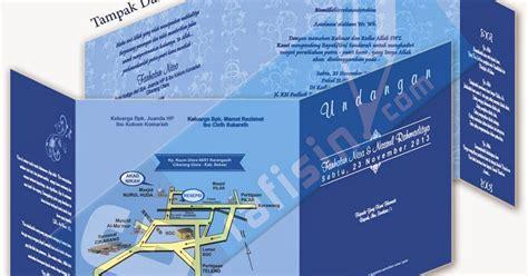 template undangan corel sederhana template undangan biru sederhana corel draw grafisin