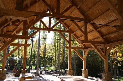 Green Home Builders light foundation pavilion colorado timberframe