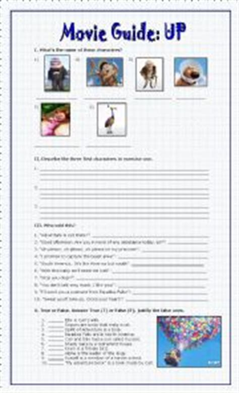 up film worksheet english worksheets movie guide up disney pixar
